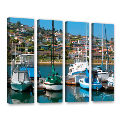 Brushstone Point Loma  Sd 4-pc. Gallery Wrapped Canvas Wall Art
