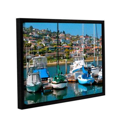 Brushstone Point Loma  Sd Gallery Wrapped Floater-Framed Canvas Wall Art
