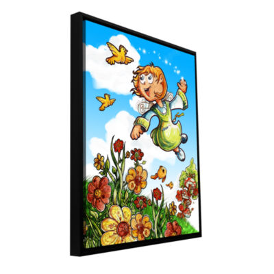 Brushstone Bird and Girl Gallery Wrapped Floater-Framed Canvas Wall Art