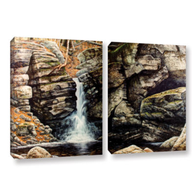 Brushstone Woodland Falls 2-pc. Gallery Wrapped Canvas Wall Art