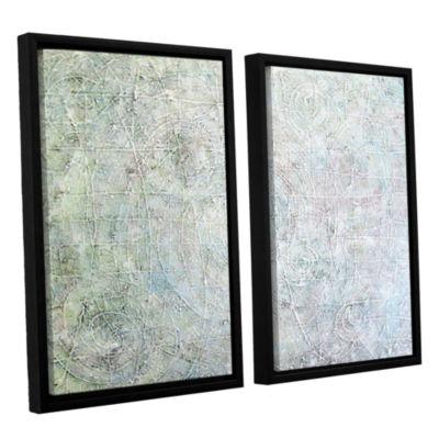 Brushstone White Spirals 2-pc. Floater Framed Canvas Wall Art