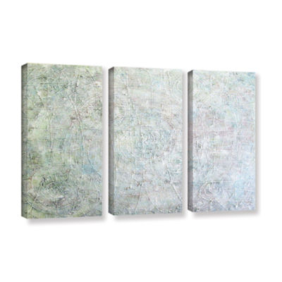 Brushstone White Spirals 3-pc. Gallery Wrapped Canvas Wall Art