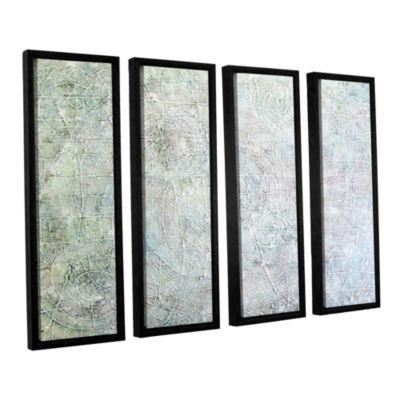 Brushstone White Spirals 4-pc. Floater Framed Canvas Wall Art