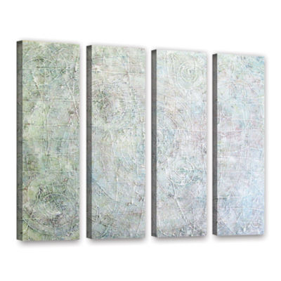 Brushstone White Spirals 4-pc. Gallery Wrapped Canvas Wall Art