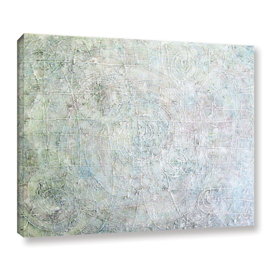 Brushstone White Spirals Gallery Wrapped Canvas Wall Art