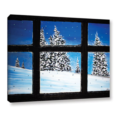Brushstone Window Gallery Wrapped Canvas Wall Art