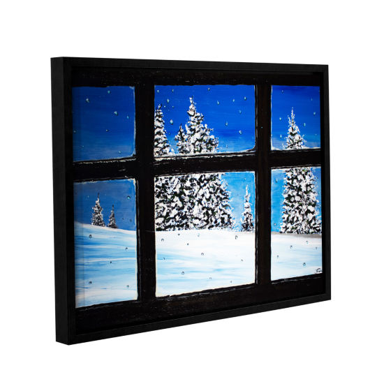 Brushstone Window Gallery Wrapped Floater-Framed Canvas Wall Art