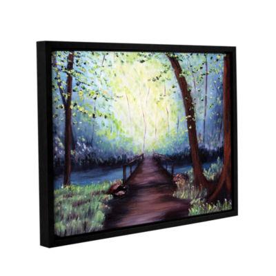 Brushstone Witness Gallery Wrapped Floater-FramedCanvas Wall Art