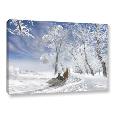 Brushstone Winter Day Gallery Wrapped Canvas WallArt