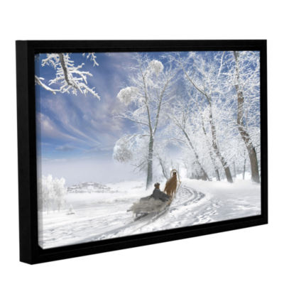 Brushstone Winter Day Gallery Wrapped Floater-Framed Canvas Wall Art