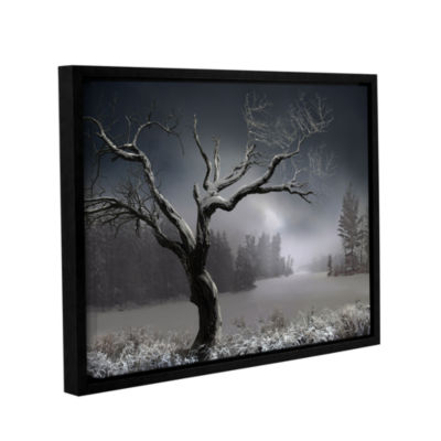 Brushstone Winter Lake View Gallery Wrapped Floater-Framed Canvas Wall Art
