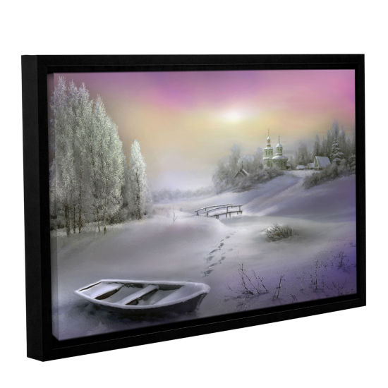 Brushstone Winter Landscape Gallery Wrapped Floater-Framed Canvas Wall Art