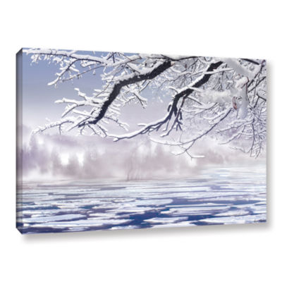 Brushstone Winter Mist Gallery Wrapped Canvas WallArt