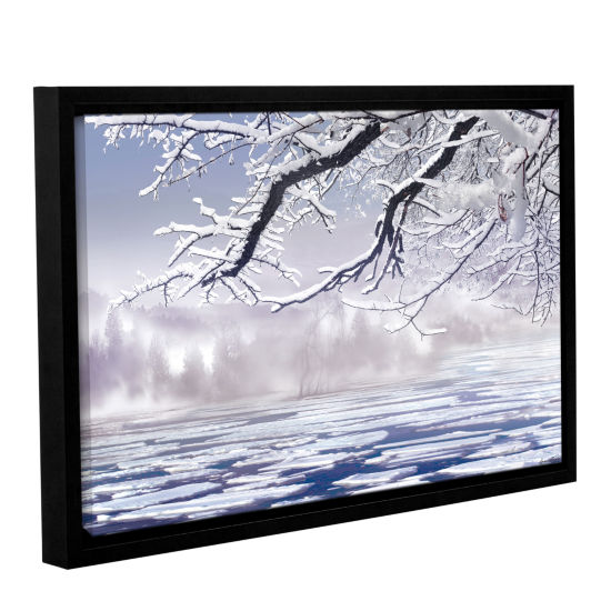 Brushstone Winter Mist Gallery Wrapped Floater-Framed Canvas Wall Art