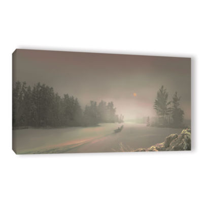 Brushstone Winter Sunset Gallery Wrapped Canvas Wall Art