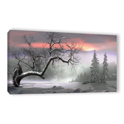 Brushstone Winter Trees Gallery Wrapped Canvas Wall Art