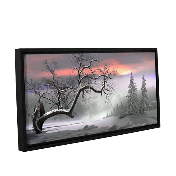 Brushstone Winter Trees Gallery Wrapped Floater-Framed Canvas Wall Art