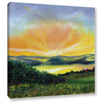 Brushstone Wrapped In Light Gallery Wrapped CanvasWall Art