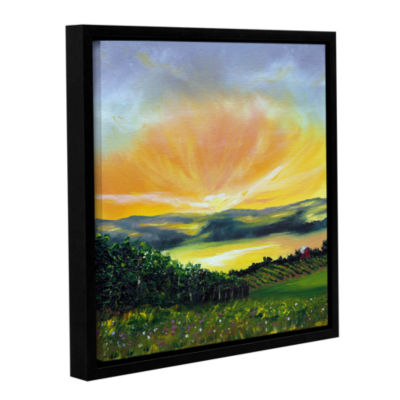 Brushstone Wrapped In Light Gallery Wrapped Floater-Framed Canvas Wall Art