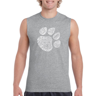 Los Angeles Pop Art Catpaw Sleeveless Word Art T-Shirt