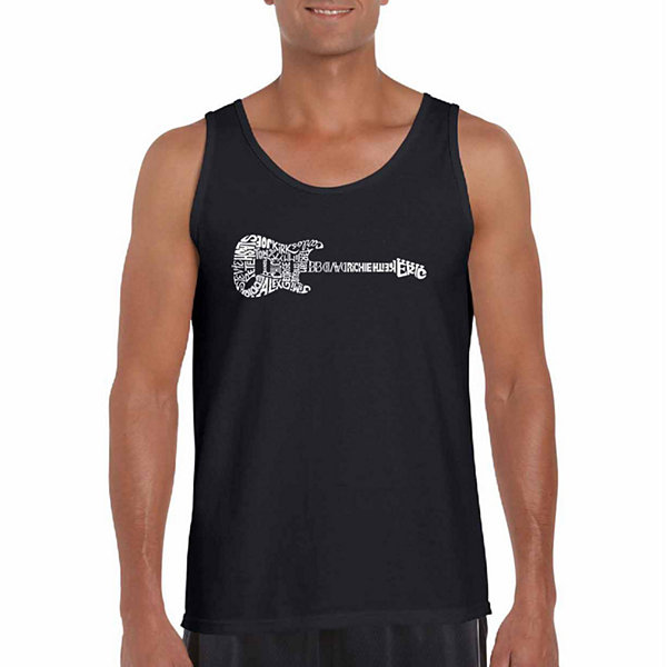 Los Angeles Pop Art Rock Guitar Word Art Tank Top