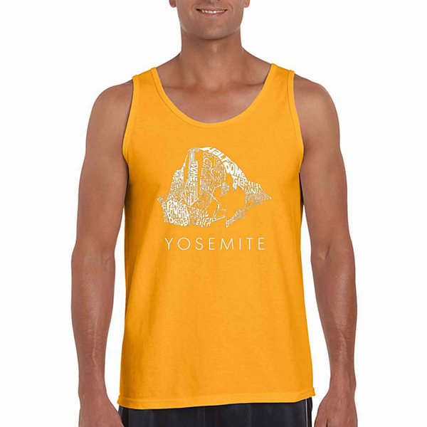 Los Angeles Pop Art Yosemite Word Art Word Art Tank Top