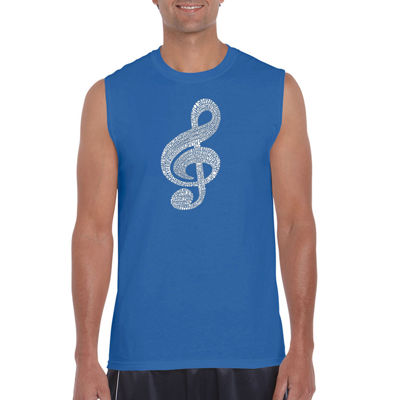 Los Angeles Pop Art Music Note Sleeveless Word ArtT-Shirt