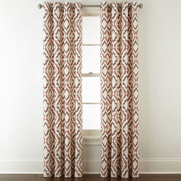 JCPenney Home Truman Grommet-Top Curtain Panel - JCPenney