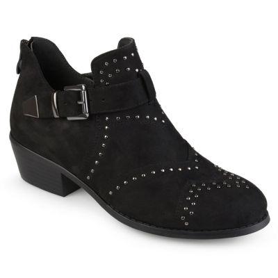 Journee Collection Womens Kenadi Booties Block Heel Zip