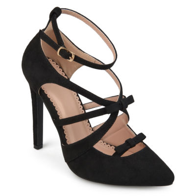 Journee Collection Womens Darion Pumps Buckle Pointed Toe Stiletto Heel