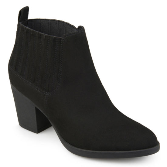Journee Collection Womens Sero Bootie Stacked Heel Pull-on