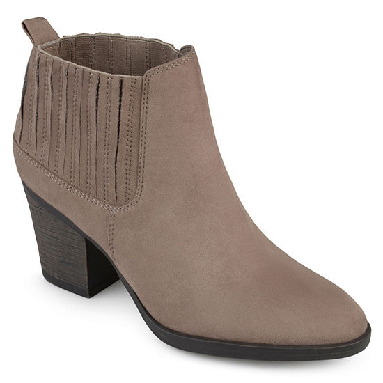 Journee Collection Womens Sero Booties Stacked Heel