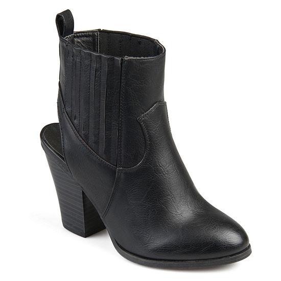 Journee Collection Womens Neri Booties Stacked Heel