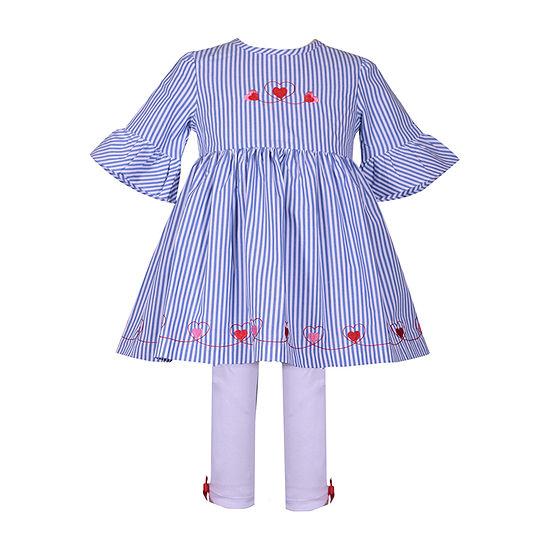 Bonnie Jean Girls 2-pc. Legging Set-Baby