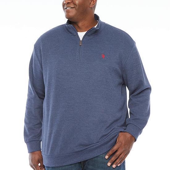 U.S. Polo Assn. Big and Tall Mens Mock Neck Long Sleeve Sweatshirt