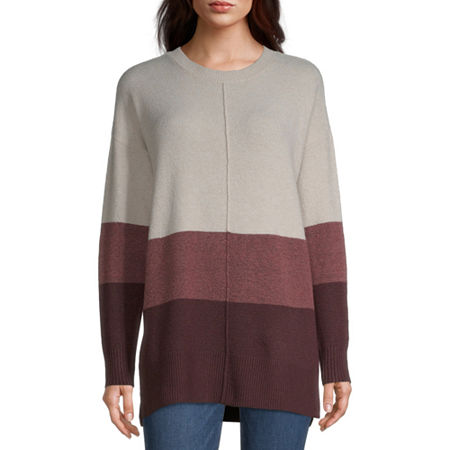 a.n.a Womens Crew Neck Long Sleeve Pullover Sweater, X-small , Pink