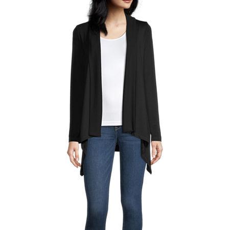 Liz Claiborne Womens Long Sleeve Cardigan, X-large , Black