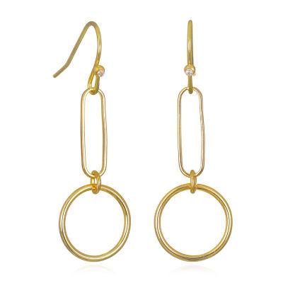 Bijoux Bar Chain Drop Earrings