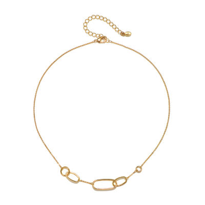 Bijoux Bar 16 Inch Link Oval Chain Necklace