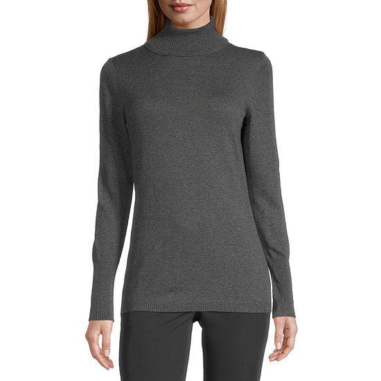 Worthington Long Sleeve Turtleneck Sweater - Tall