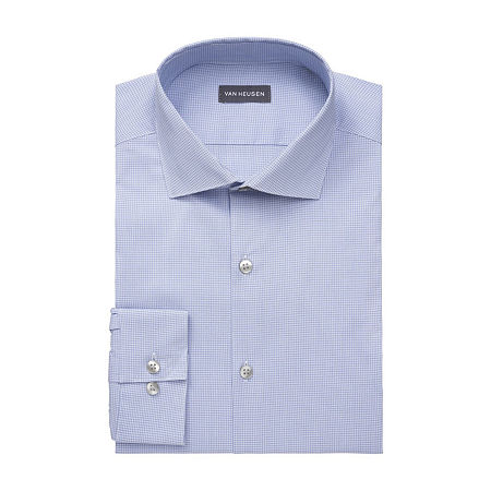 Van Heusen Big & Tall Mens Stain Shield Wrinkle Free Stretch Dress Shirt, 18.5 35-36, Blue