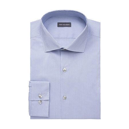 Van Heusen Big & Tall Mens Stain Shield Wrinkle Free Stretch Dress Shirt, 18.5 35-36, Blue