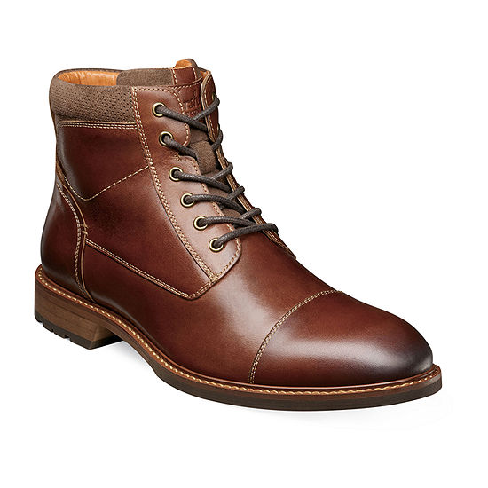 Florsheim Mens Chalet Plain Toe Lace Up Boots