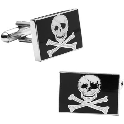 Skull and Crossbones Cuff Links