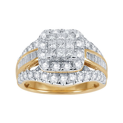2 CT. T.W. Diamond 14K Yellow Gold Multi-Top Ring