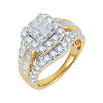 2 CT. T.W. Genuine Diamond 14K Yellow Gold Multi-Top Ring