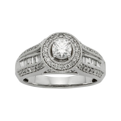1 CT. T.W. Diamond 10K White Gold Bridal Ring