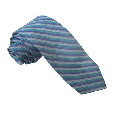 Stafford® Linen Look Stripe Tie