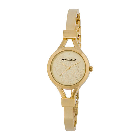 Laura Ashley Womens Gold Tone Bangle Watch-La31019yg