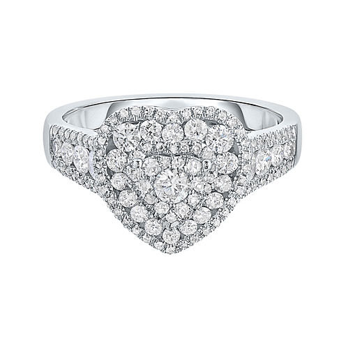 LIMITED QUANTITIES! Womens 1 CT. T.W. Round White Diamond 14K Gold Engagement Ring